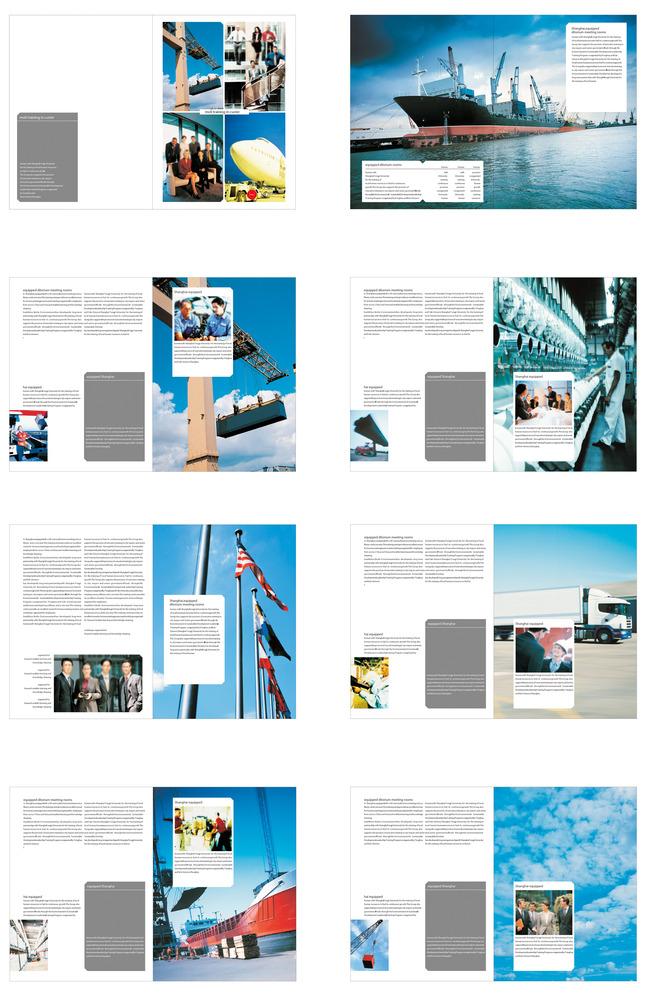 运输业画册旅游企业商业版式版面设计模板下载(图片:)