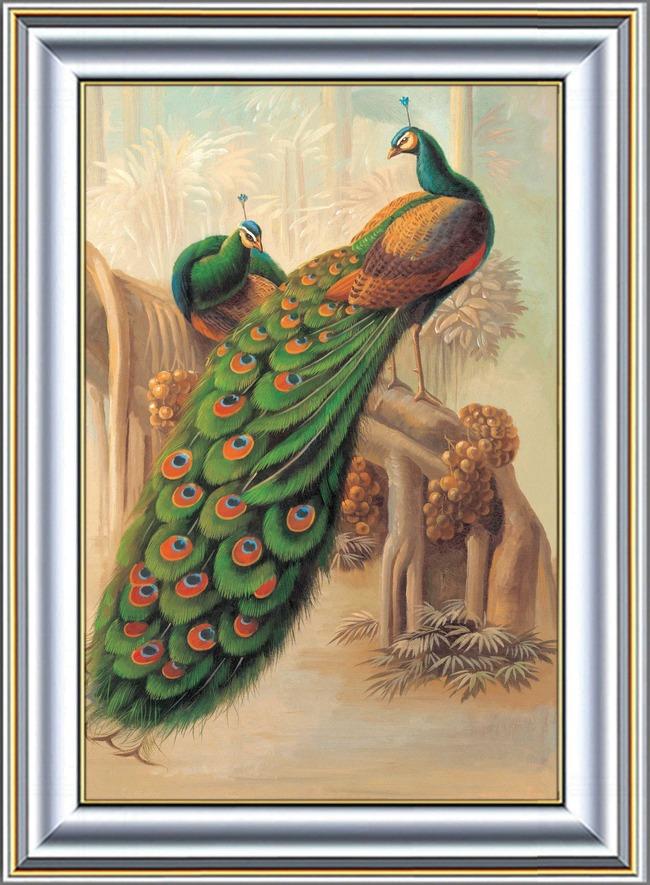 背景墙 装饰画 油画 静物油画 > 孔雀静物油画  下一张&gt