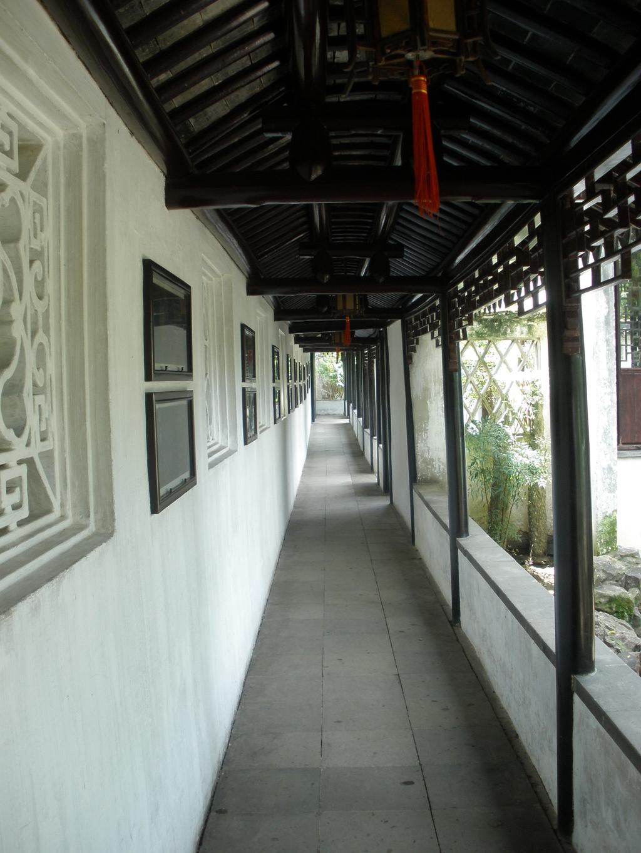 苏州园林长廊摄影设计素材