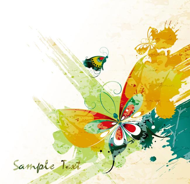手绘图-蝴蝶手绘分解图图片