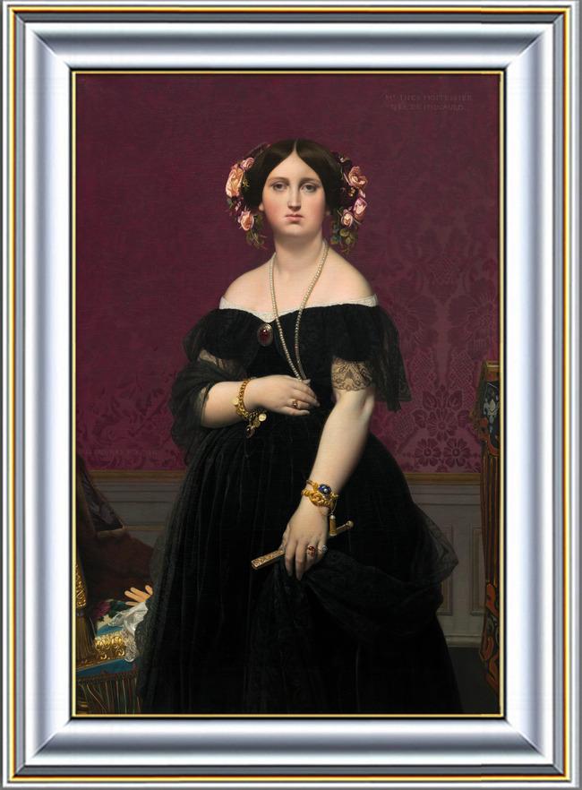 古典欧洲贵妇油画