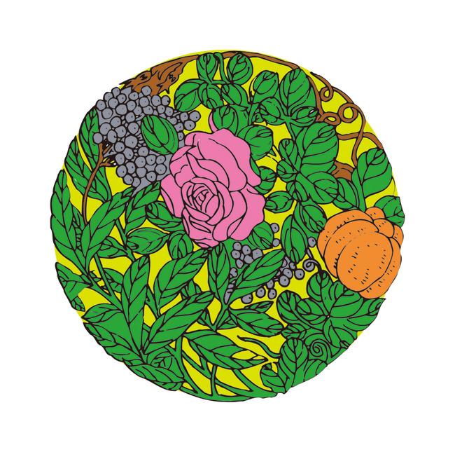矢量手绘牡丹花团锦簇吉祥图案