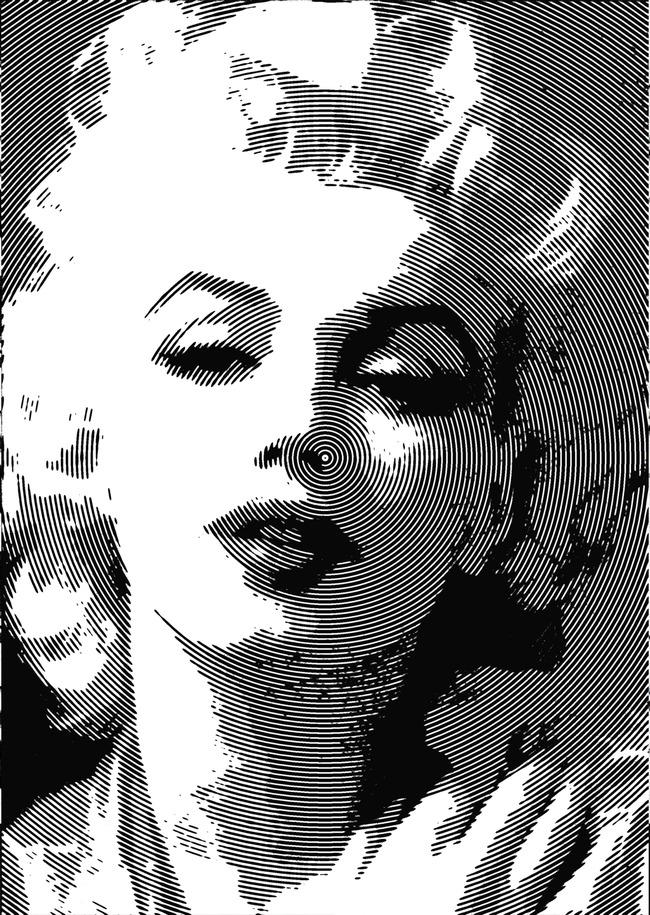 玛丽莲梦露系列高清图片下载(图片编号13435580)手绘