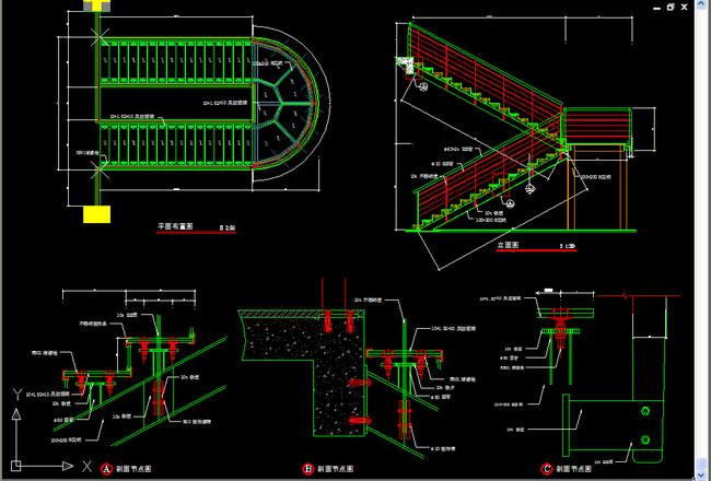 楼梯踏步节点详图