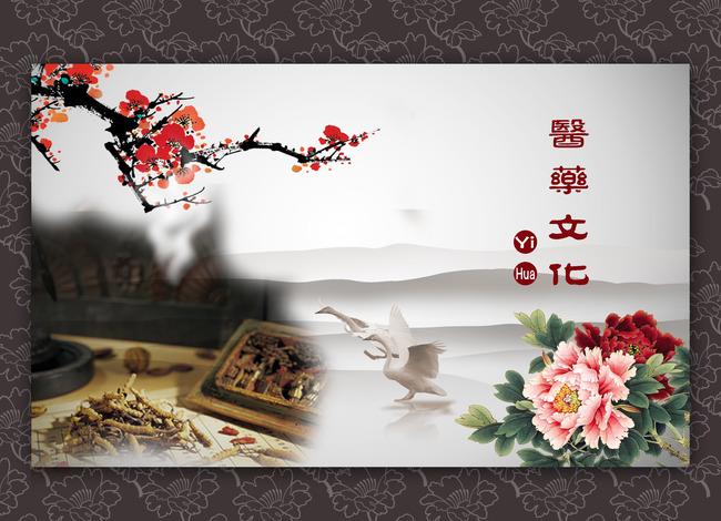 中医药企业文化海报模板