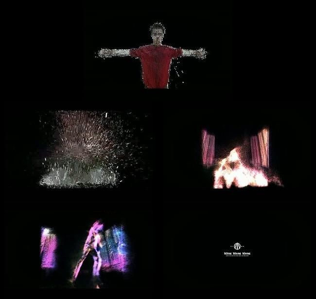 粒子人物视觉特效视频