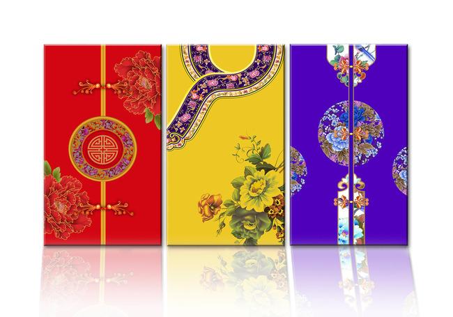 墙画 壁挂           装饰画素材 中国风 旗袍 唐装 古典花纹