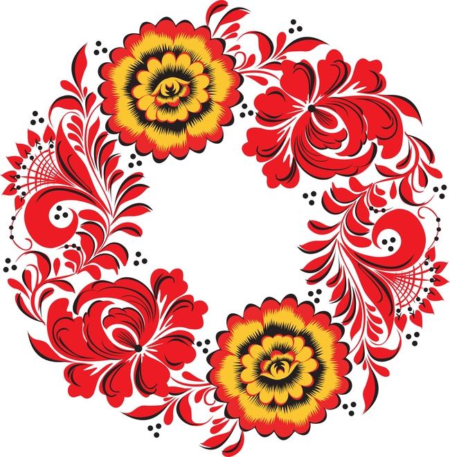 花纹样式 花纹花边 炫彩 传统图案 圆形花纹 eps矢量 插画背景 韩国