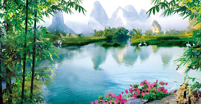 桂林山水图模板下载(图片编号:13449181) 高清晰图片风景壁纸 桂林