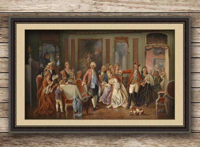 欧洲贵族油画图片