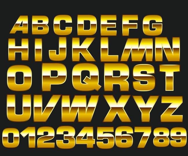 3d立体英文数字艺术字体图片