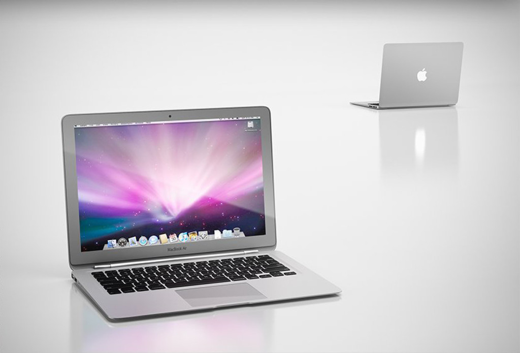 3d苹果笔记本air模型
