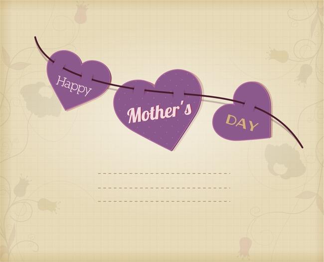 母亲节卡片纸张素材