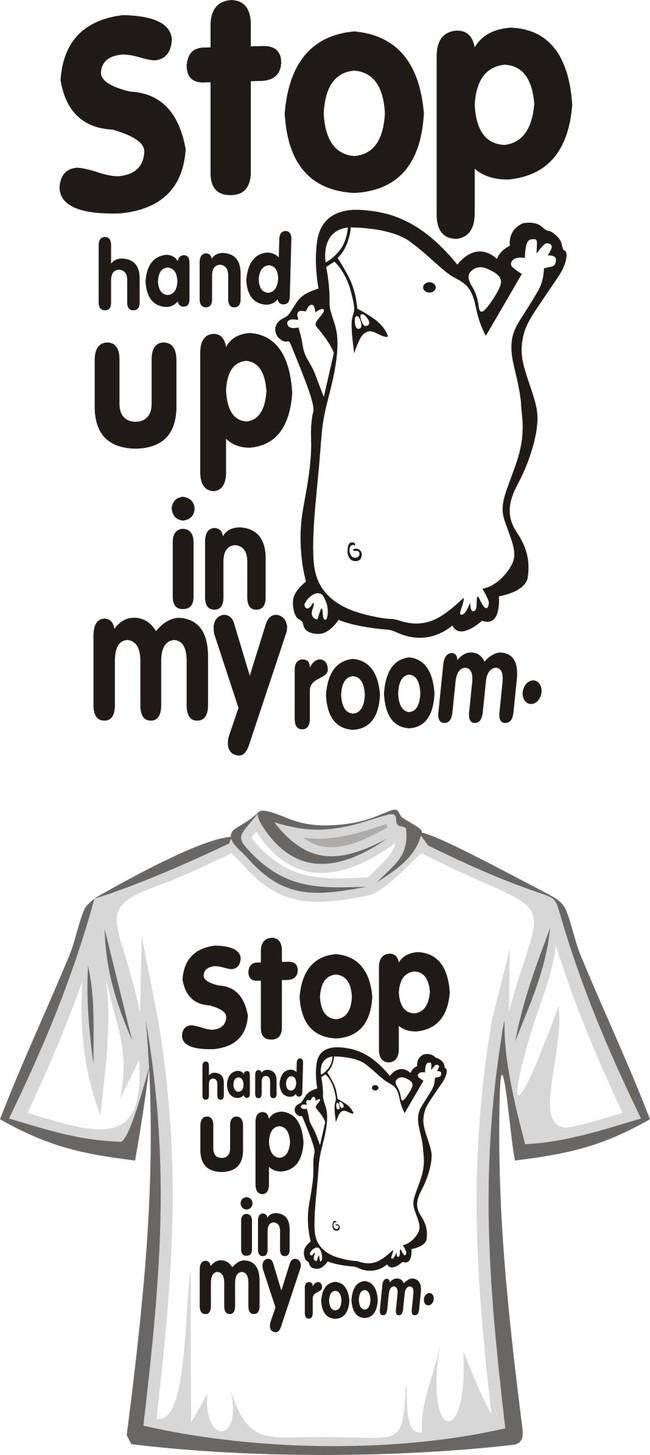 黑白简易t恤图案