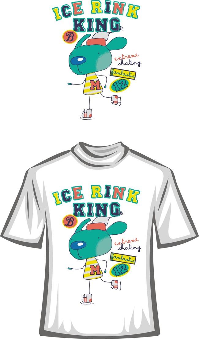 潮流卡通t恤图案模板下载(图片编号:13463334)