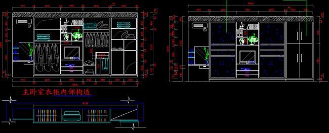 设计实木家具雕花 线条 红木cad家具图纸 cad衣柜立面样板 cad内部