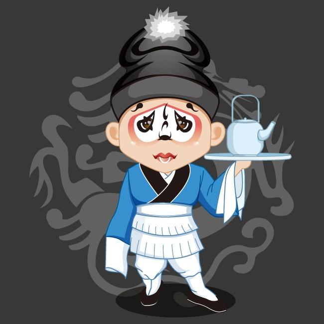 卡通京剧人物图案