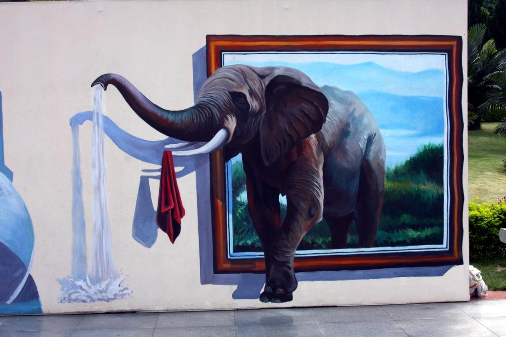 大象立体装饰画