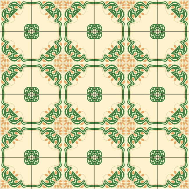 精美地板砖图案模板