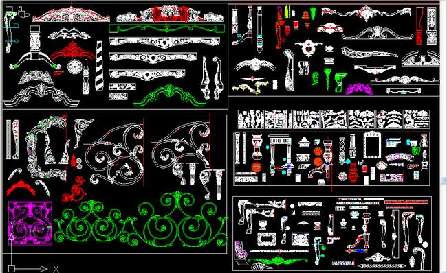 欧式花纹cad图集模板下载(图片编号:13477478)