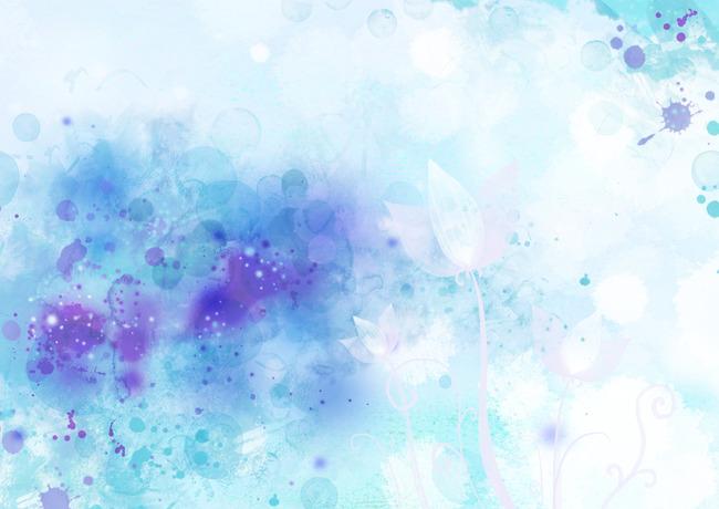 清新小花手绘图片
