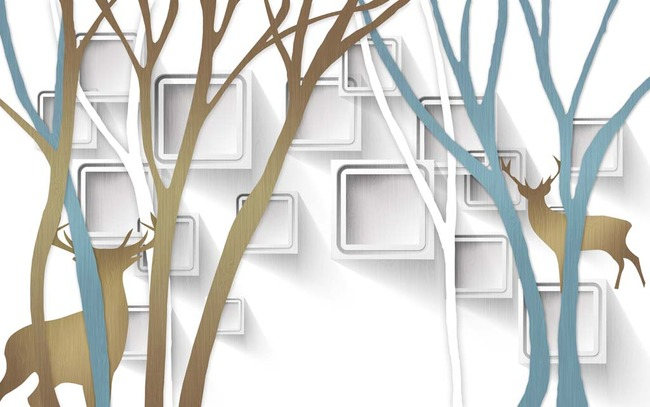 3d立体抽象森林电视背景墙高清图片下载(图片编号)3d