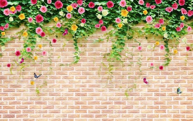 手绘墙画蔷薇花