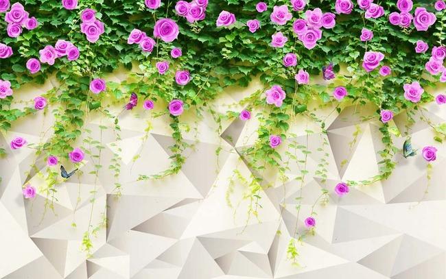 3d电视背景墙 > 蔷薇花