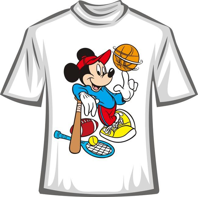 可爱米奇卡通t恤图案