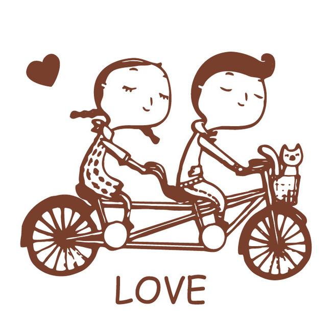 手绘卡通人物面料图案 服装图案情侣 情侣图案 文字图案 唯美图案