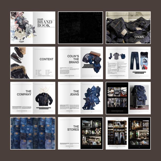 牛仔裤宣传册服装设计画册模板下载(图片编号:)