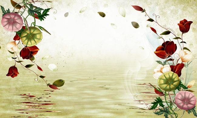 玫瑰花 唯美 背景图片
