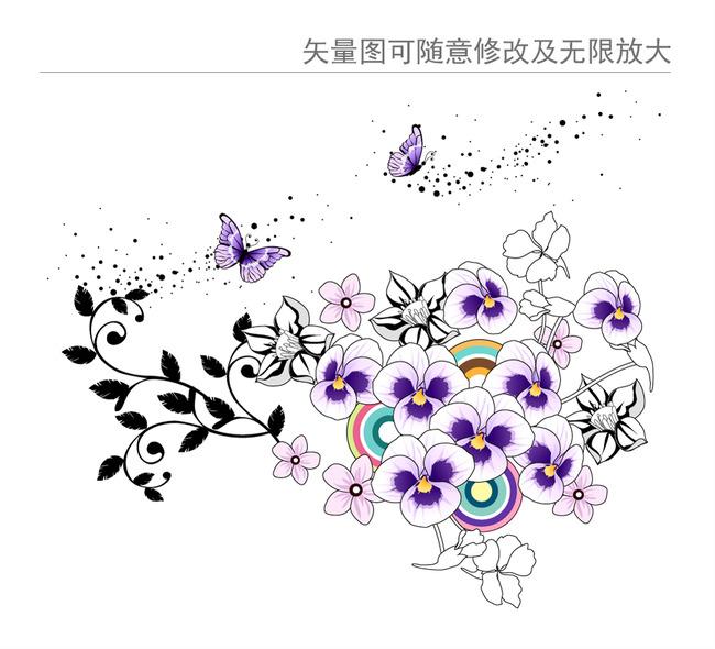 欧式嫩绿花朵图案图片下载 图案花纹图案插画印花图案 拼花图案 陶瓷