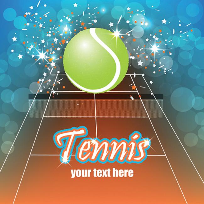 网球海报_网球运动宣传海报矢量素材编号2013121608