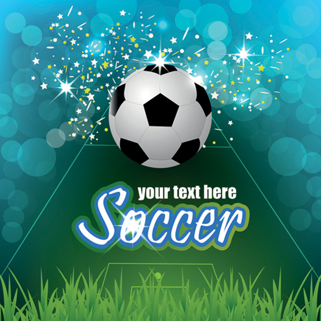 足球球类创意海报矢量素材