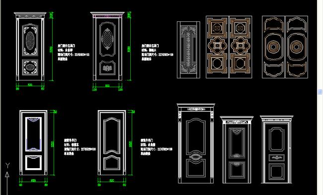 2015新款欧式门,门套线图集模板下载(图片编号:)