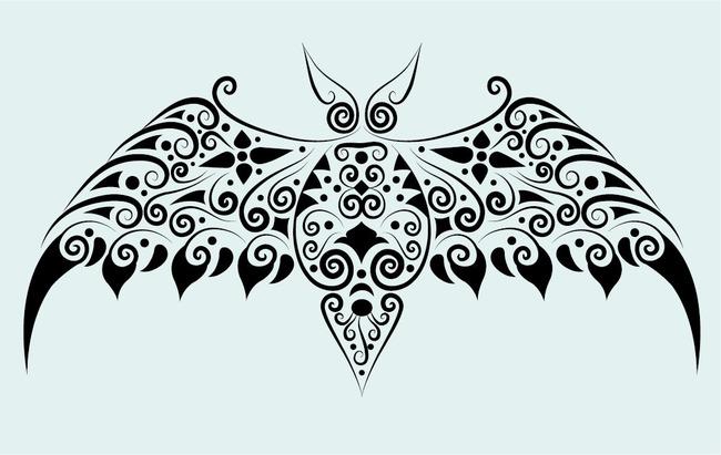 蝙蝠纹身图案模板下载(图片编号:13505785)