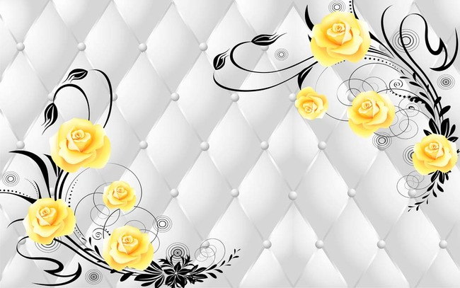 欧式玫瑰花城堡壁纸动漫