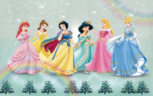 小朋友们画公主