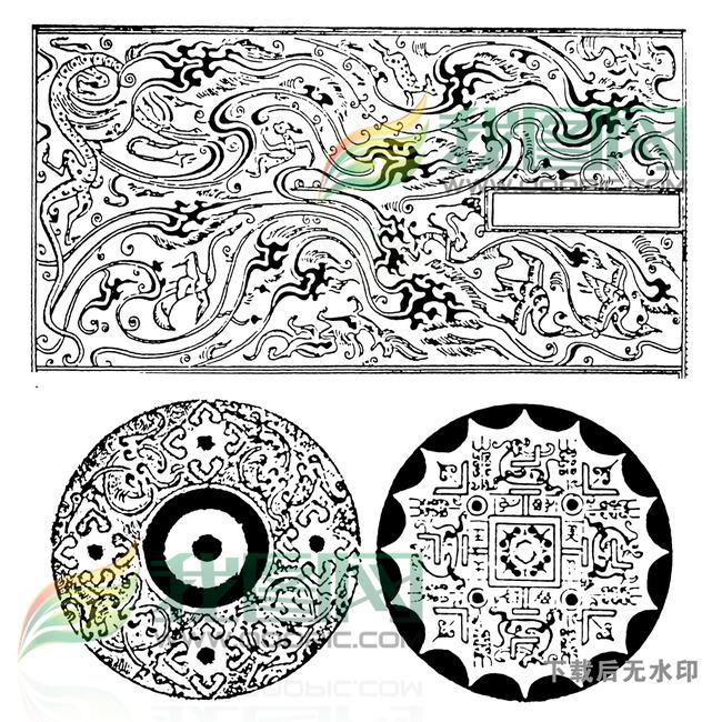 龙纹传统图案纹身图案大全图片下载 麒麟 拓片 龙凤呈祥 如意吉祥图腾图片