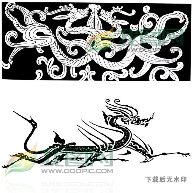 古典花纹龙纹传统图案纹身图案大全图片下载 麒麟 拓片 龙凤呈祥 如意