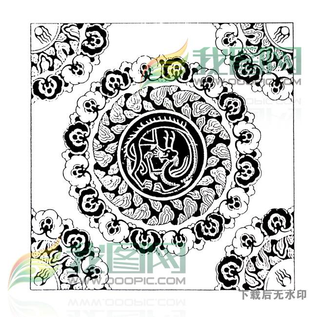 古典花纹龙纹传统图案纹身图案大全