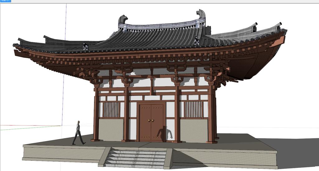中式古典建筑门楼su模型
