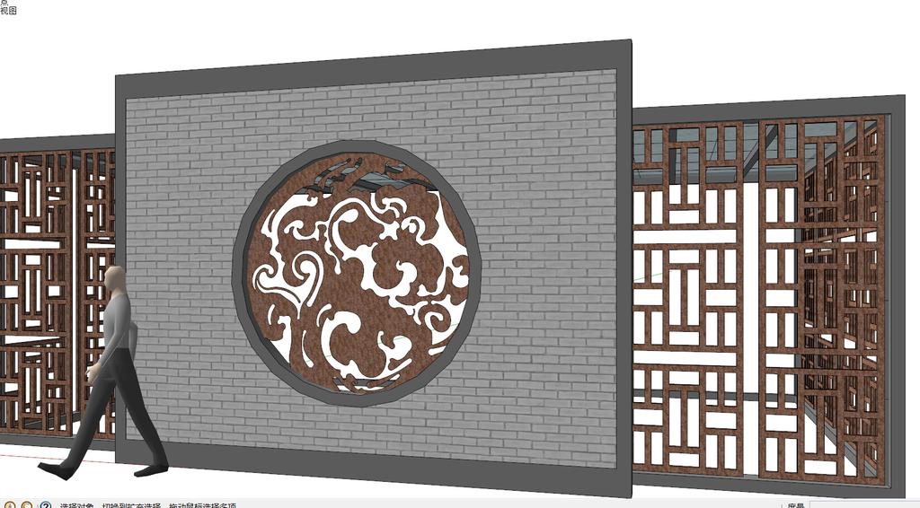 中式古花纹展示图片