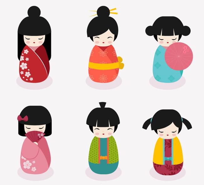 可爱日本娃娃设计