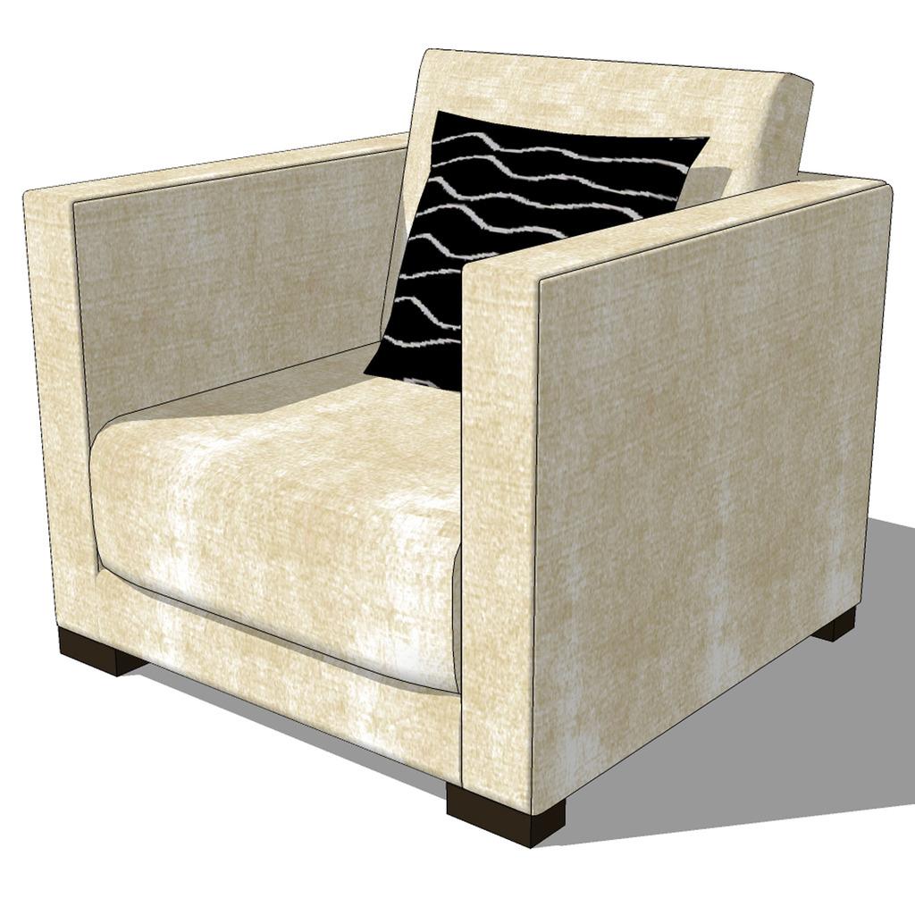 沙发模型sketchup模型模板下载
