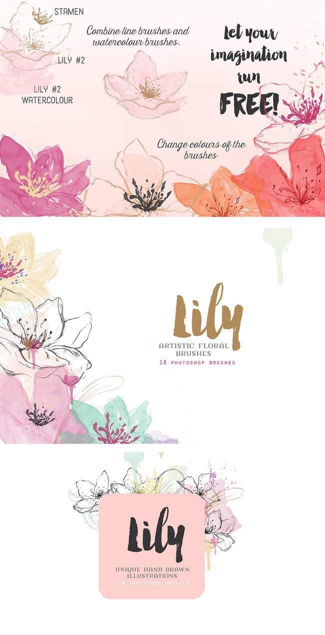 ps手绘质感花朵笔刷ps手绘花朵