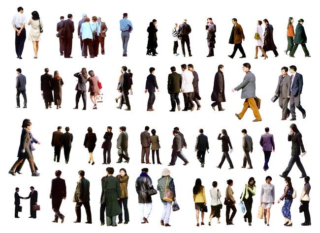 50款人物psd分层素材图片下载 50款人物psd分层素材 行走的人 室外