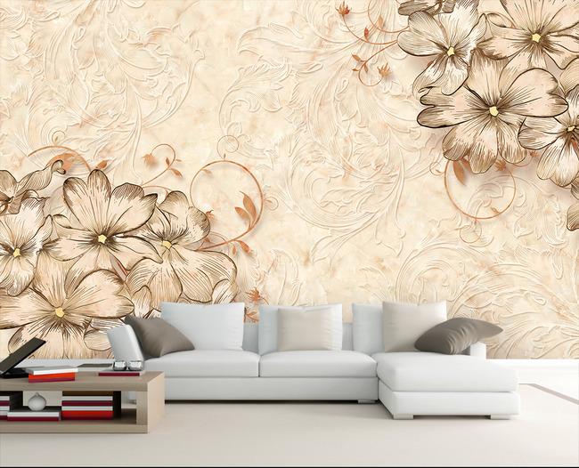大理石电视背景墙 欧式电视背景墙电视墙壁画沙发背景墙欧式花纹浮雕