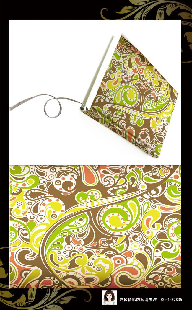 欧式底纹设计图案 手绘花卉花纹底纹 移门图案 窗帘图案 丝巾图案